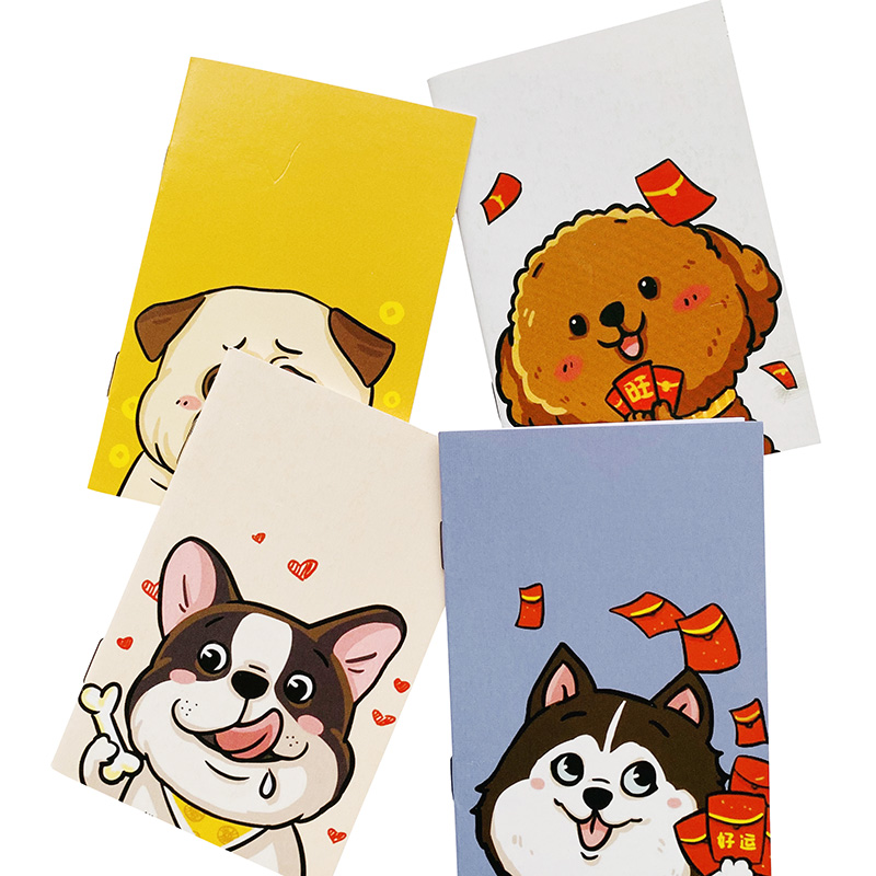 16 Pages Cute Cartoon Dogs Puppy Notebook Writing Diary Book School Office Supply Kids Gift Student Stationery