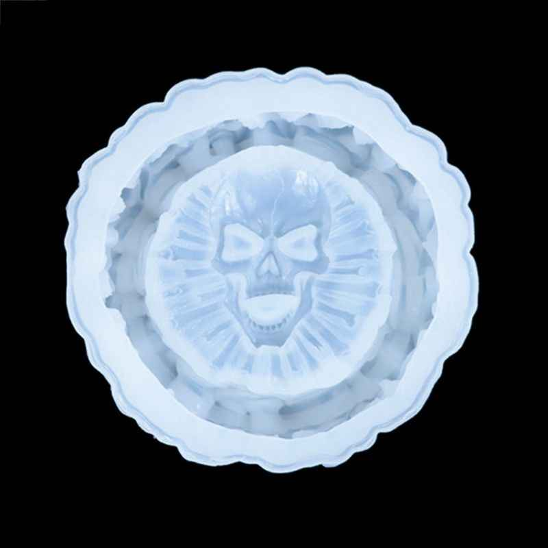 Skeleton Ashtray Epoxy Mold Resin Polymer Clay Casting Silicone DIY Skull Mold