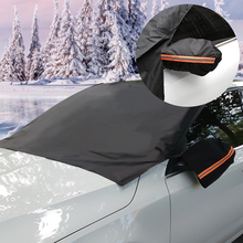 Carro à prova dwaterproof água geada guarda inverno windshield neve capa janela dianteira pára brisas protetor magnético cobre se encaixa universal carro