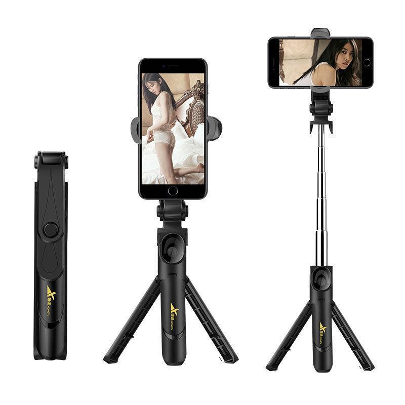 Bluetooth Selfie Stick Tripod Stand Extendable 360° Rotation Self-timer Selfie Stick Monopod Foldable Live Mobile Phone Bracket