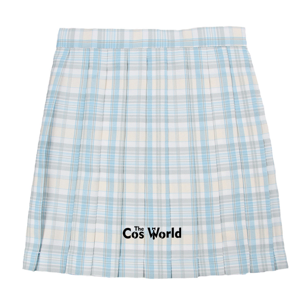 [Twilight] Girl's Summer High Waist Pleated Skirts Plaid Skirts Women Dress For JK School Uniform Students Cloths