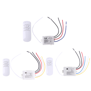Wireless ON/OFF 220V Lamp Remote Control Switch Receiver 1/2/3 Ways Transmitter Controller Indoor Lamp Home Replacements Parts