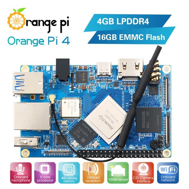 Sample Test Orange PI4 4G16G Single Board,Discount Price for Only 1pcs Each Order