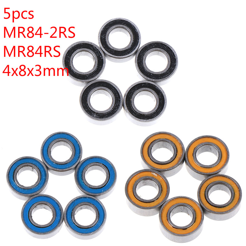 Double Metal Rubber Sealed Ball Bearing Orange 4x8x3mm 10PCS MR84RS