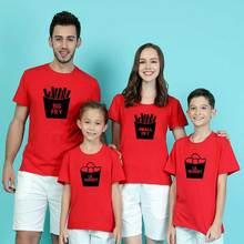 Футболки для всей семьи пляжная одежда папы матери и я Новые