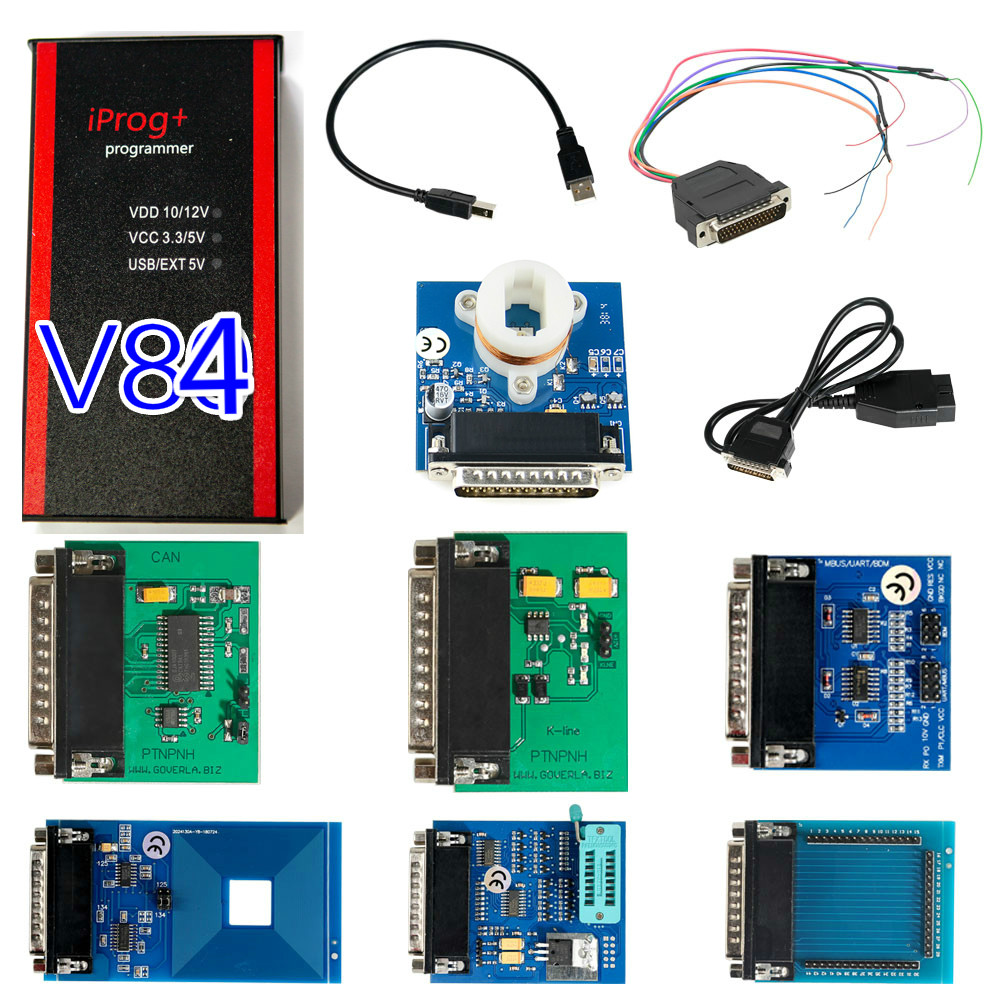 New V84 Iprog+ Pro Programmer Support IMMO + Mileage Correction + Airbag Reset Till Year 2019 Replace Carprog Digiprog III Tango