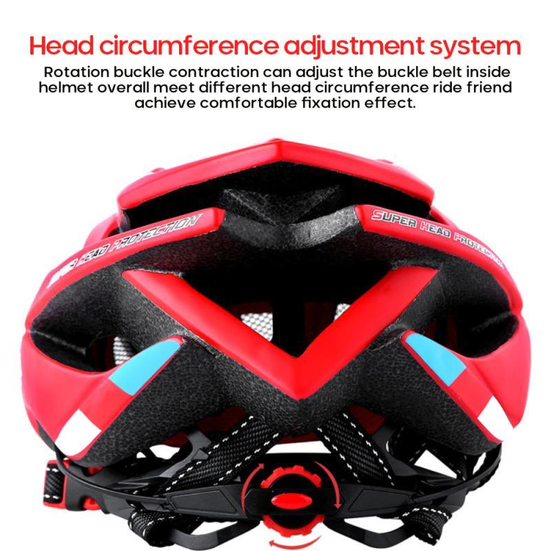 Ultralight Bike Bicycle Helmet Unisex Adjustable Cycling Sports Safety Cap Outdoor Intergrally-molded MTB Mountain Bike Helmet 5