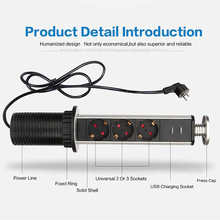 電気引張電源コンセントプラグワークトップデスクホームプルのusbソケットzy eu Plug250V