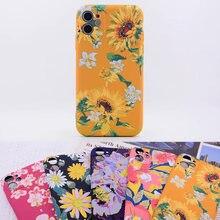 Luxo padrão de flor impressão tpu macio capa protetora do telefone para o iphone 11 pro max xs max