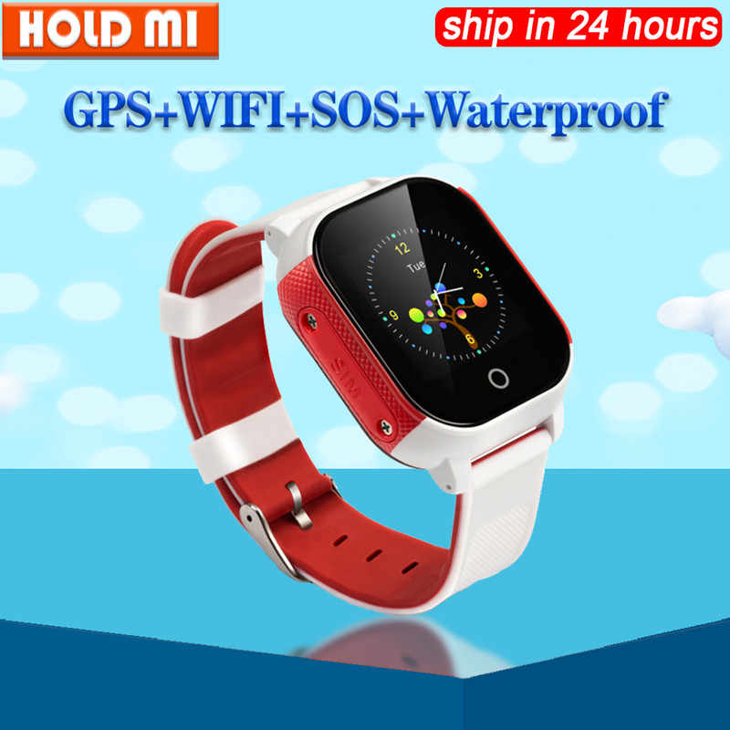 FA23 Smart Baby Watch IP67 Waterproof Children SIM Card Touch Screen GPS WIFI SOS Tracker Kids Alarm Clock Anti-Lost Smartwatch