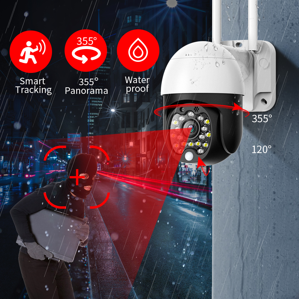 FEISDA 1080p Mini Wifi Audio Camera 4x Zoom Waterproof IP Camera Outdoor Motion Detection Storage CCTV Security Camera