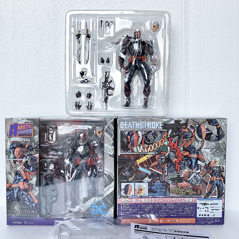 Revoltech Series Comics Anime Batman Deathstroke Action Figure Model Collectable Toys Doll For Gift image