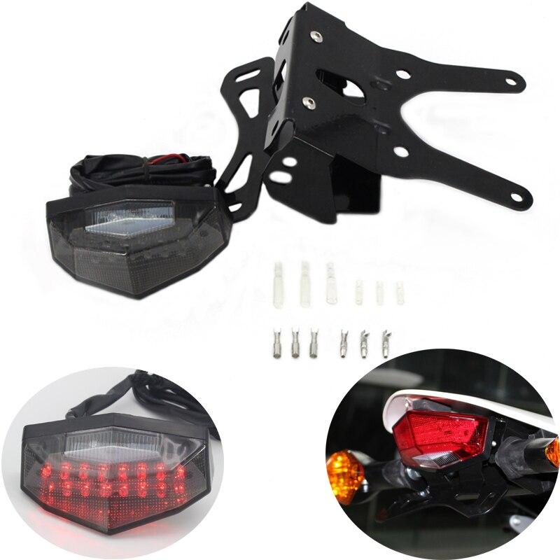 Pour Honda CRF250L 2013-2019 feu arrière LED porte-plaque d'immatriculation clignotant moto tout-terrain