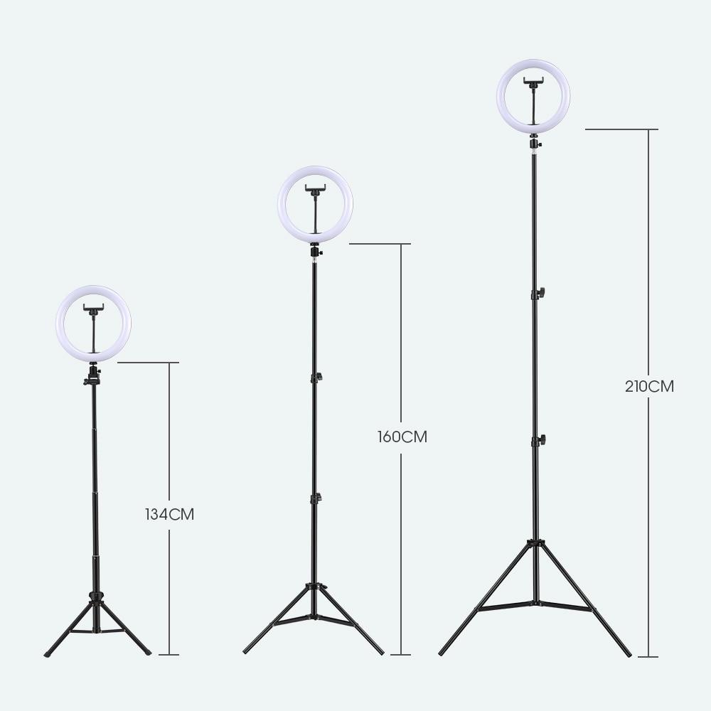 Selfie ring light fotografía luz led borde de lámpara con soporte - Cámara y foto - foto 5