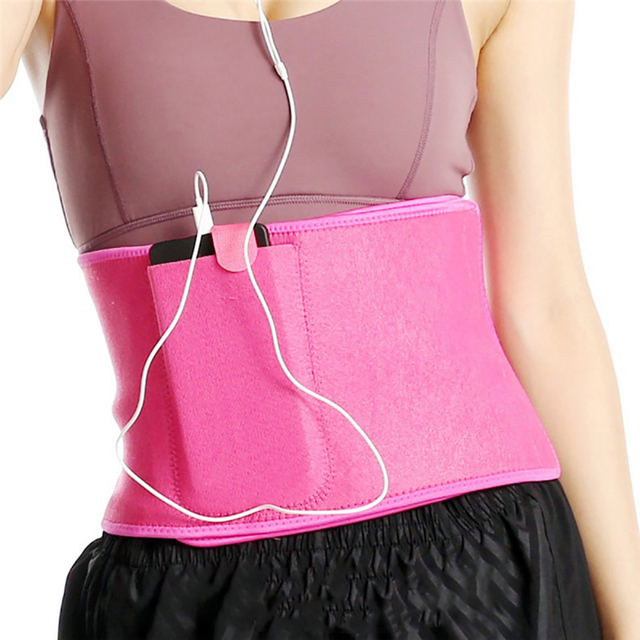 Adjustable Fitness Slimming Waist Belly Thermo Sweat Belt Body Shaper Waistband Trainer Girdle Corset Fat Burning Fitness Strap 4
