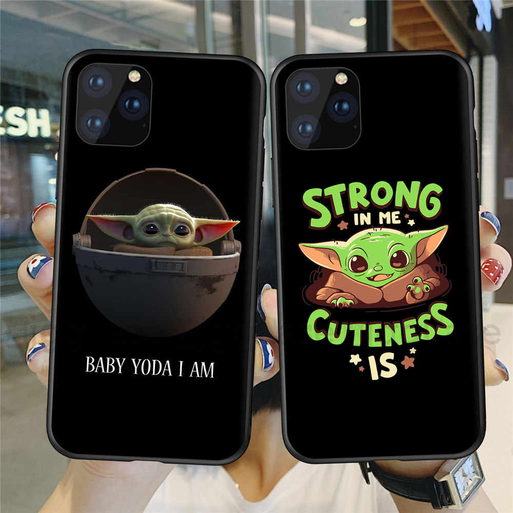 사랑스러운 아기 yoda mandalorian coque 케이스 for iphone xr 5 5 s se x 6 6 s 7 8 plus for iphone 11 pro xs max 케이스 tpu coque cover
