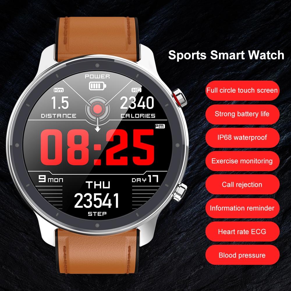Montre intelligente numérique mode hommes affaires montre-Bracelet rappel d'appel de luxe moniteur de sommeil Bracelet musique à distance Smartwatch pour homme 4