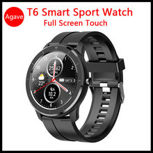New T6 Smartwatch Men's Watches Outdoor Sport Smart Watch Round Dial 1.28 Inch Full Screen Touch Fitness Watch For Android IOS