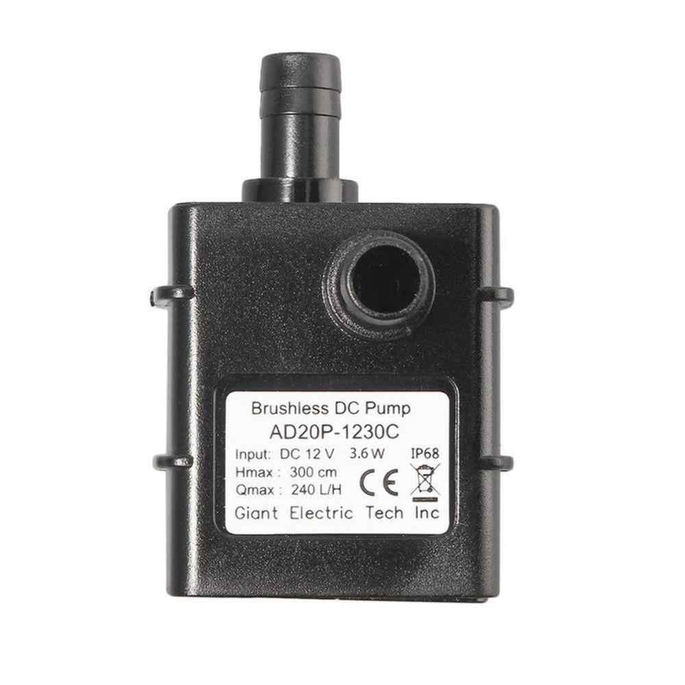Portable DC 12V Micro DC Tanpa Sikat Pompa Air Ultra Tenang Brushless Motor Menyelam Pompa Kolam Renang Pompa Mikro