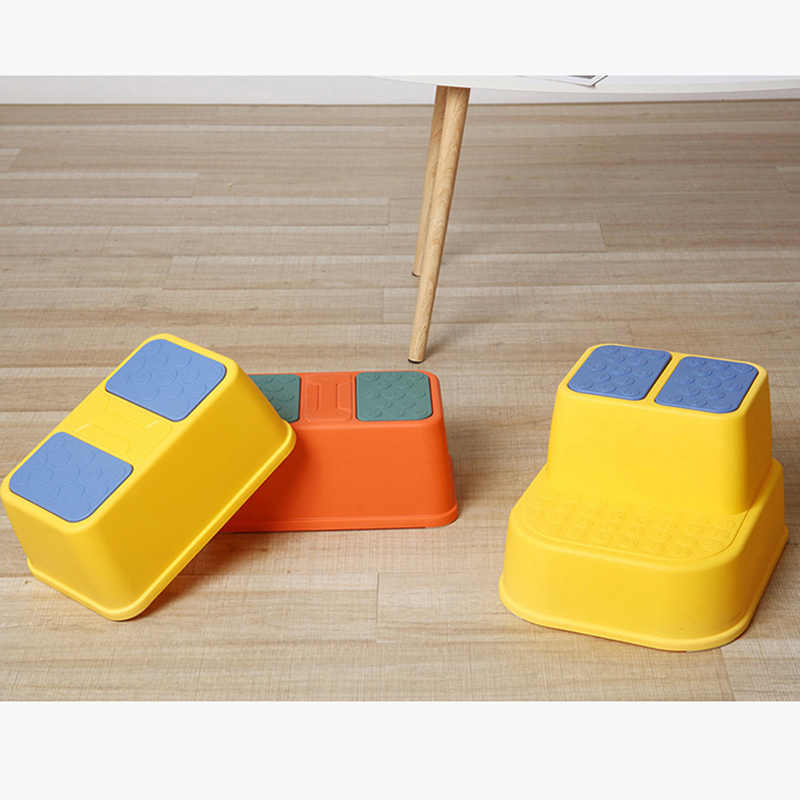 YOUNGE Children Step Stool Multi-Function Anti-Slip Thicken Footstool Single//Double Layers Stool for Kids Children