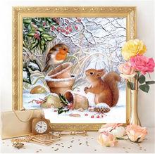 DIY 5D Diamond Painting Animal Little Squirrel Full Diamond Embroidery Cross stitch Rhinestone Mosaic Baby Room Decoration Gift