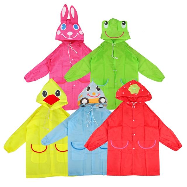 Raincoat Kids Cartoon Animal Style Waterproof Kids Raincoat Baby Raincoat for Children Rain Coat Rainwear Rain Coat Kids 4