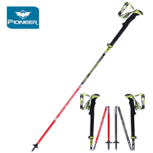 Folding 2pcs/lot nordic walking poles stick camping trekking cane trek carbon pole for Hiking