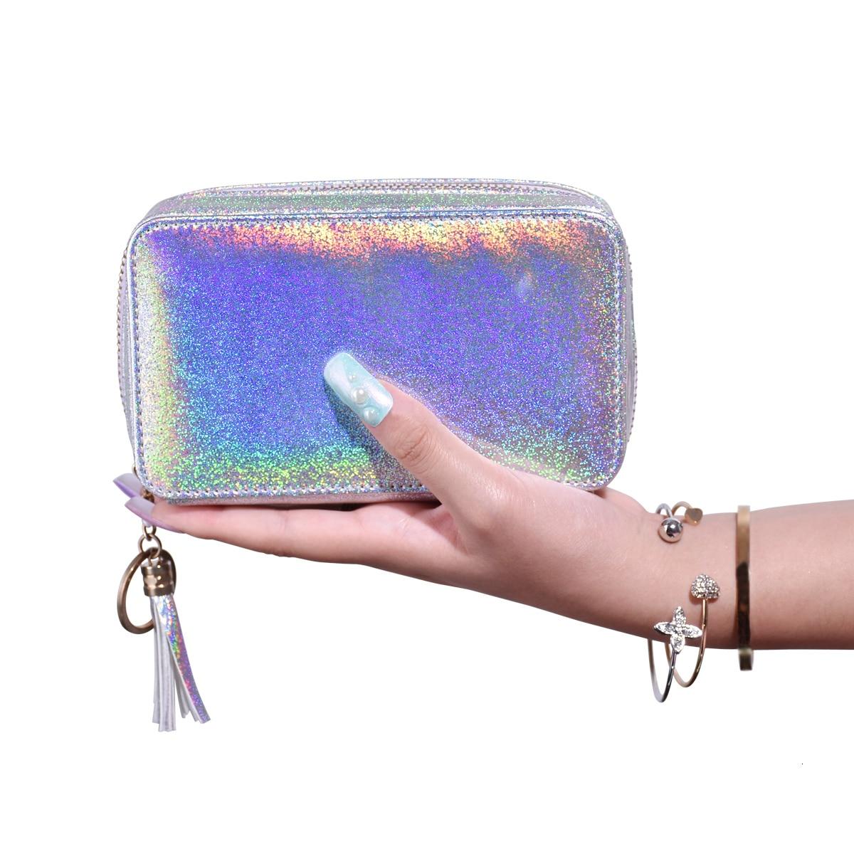 cosméticos organizador caixa bolsos removíveis