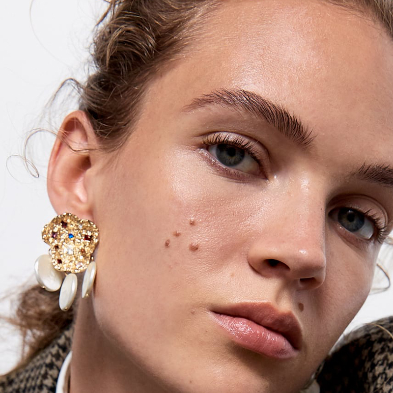FASHIONSNOOPS ZA Imitation Pearls Earrings 2019 Newest Handmade Bijoux Boho Statement Earrings For Women Wedding Party Gifts