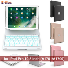 For iPad Pro 10.5 Wireless Keyboard Case BackLight Bluetooth Metal Smart Flip Cover for Apple inch Cases