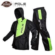 Полюс водонепроницаемый мотоциклетный дождевой костюм дождевик+ дождевые штаны пончо мотоцикл Дождевик Мотоцикл Скутер для верховой езды, против дождя костюм