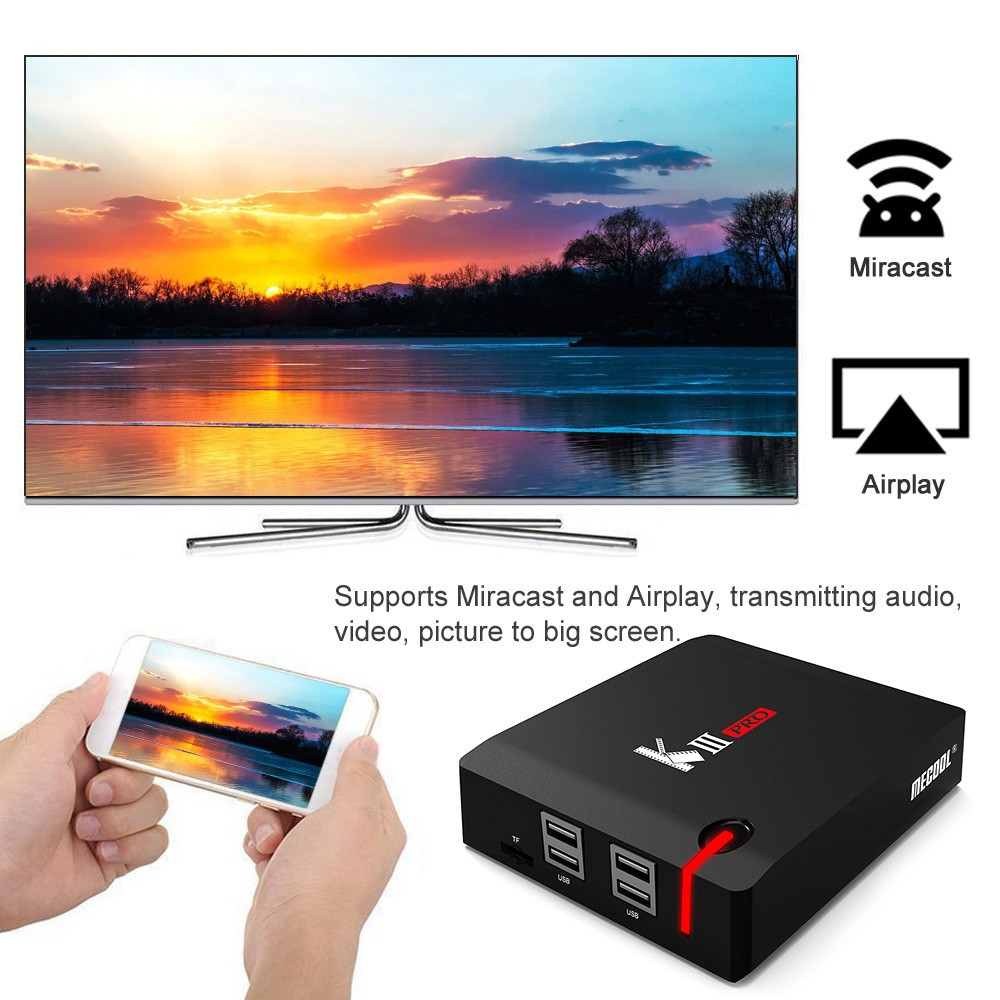 MECOOL KI Pro KII KIII Pro DVB T2 + S2 Android TV Box 3G 16G Amlogic S912 DDR4 Octa Core 4K décodage 2.4G + 5G décodeur lecteur multimédia - 3