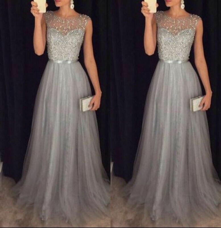 Женское элегантное торжественное мероприятие вечерние из сетчатой ткани, без рукавов, с завышенной талией, с блестками, блестящие свадьбы, ...