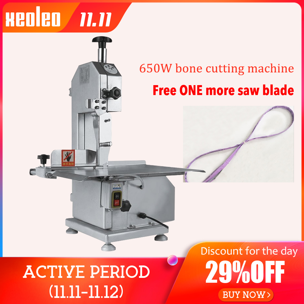 XEOLEO machine à scier les os machine de découpe d'os coupeur de viande congelé Commercial coupe trotteur/côtes/poisson/viande/boeuf machine 110 V/220 V
