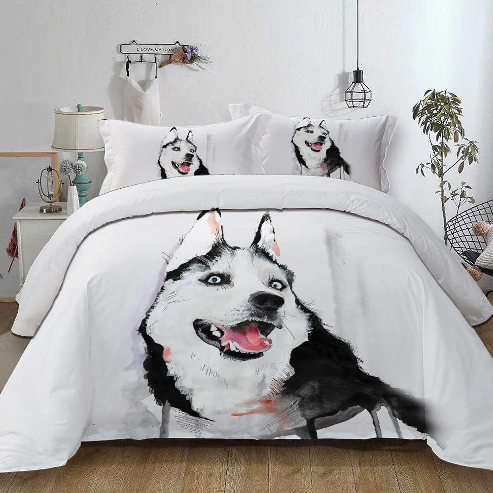 siberian husky bedding set