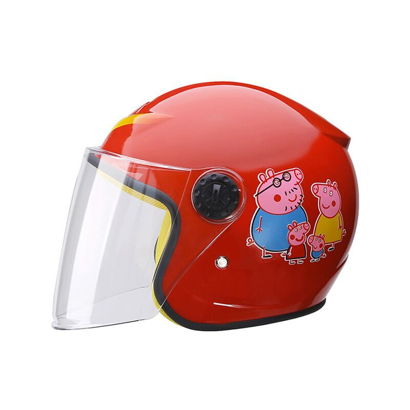 CHILDREN'S Cartoon Safety Helmet GIRL'S And BOY'S Electric Bicycle Helmet Cute Baby Battery Motorcycle Helmet Half Helmet Four S