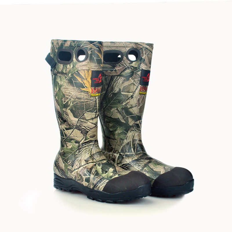 Brand hunting fishing shoes winter Non-Slip rubber boots Camouflage waterproof hunting shoes big yards 40-46