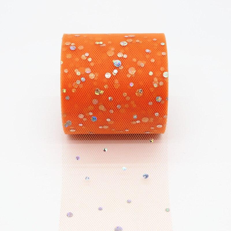 25 ярдов/рулон 6,5 см блеск рулон тюля с блестками Свадебные украшения кружева, тюль, платье-пачка «сделай сам» из органзы Baby Shower вечерние поставки - Цвет: AQ12