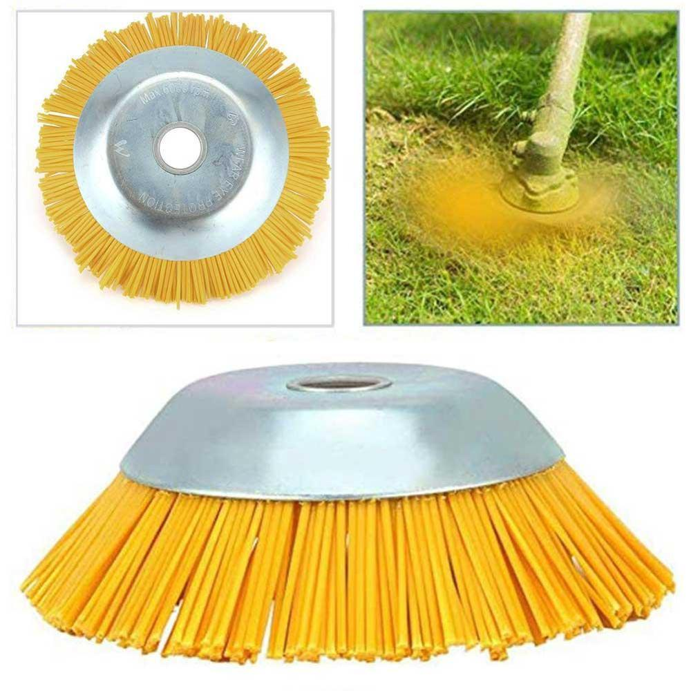Yellow Garden Standard Steel Wire Trimmer Head Grass Brush Cutter Dust Removal Weeding Plate For Lawnmower