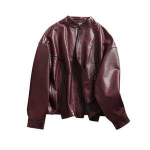 Image 4 - AYUNSUE gerçek deri ceket 2020 bahar sonbahar ceketi kadınlar 100% hakiki koyun derisi ceket kadın bombacı ceketler Chaqueta Mujer benim