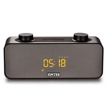 JONTER Multi Function Wireless Bluetooth Sound Subwoofer Creative Bedside Speaker Electric Quantity Display Alarm Clock фото