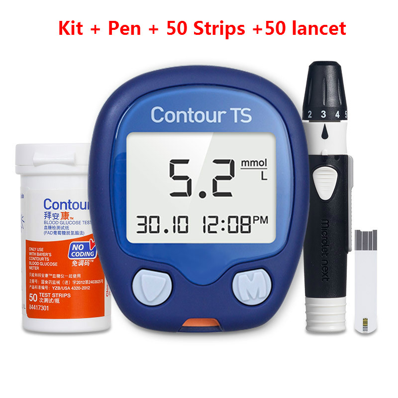 Bayer Contour Blood Sugar Test Meter Test Strips Glucose Meter Glucometro Diabete Diabetic Products Diabetese Lancet Free