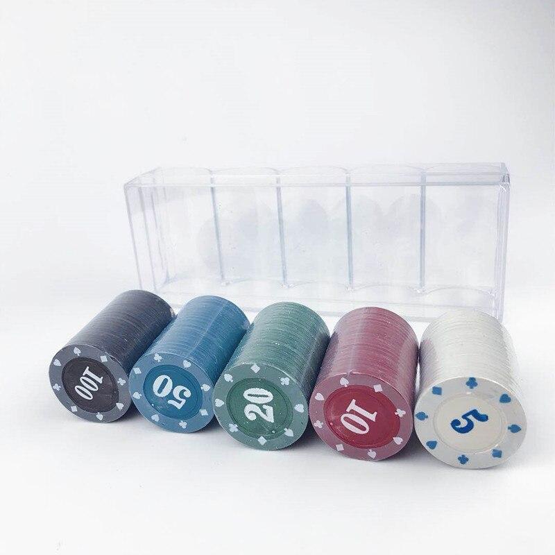 Profissional Chip de Bingo Conjunto Para Jogo De Cartas de Poker chip Set
