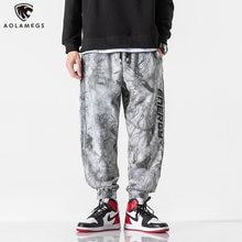 Мужские повседневные брюки aolamegs модные штаны карго с китайским