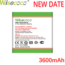 Wisecoco 3600mAh HB5R1 HB5R1H Battery For Huawei Ascend G500D U8520 U8836D U8950 U8950D U8832 U8832D CellPhone Latest Production аккумулятор для huawei ascend g500 g600 u8832d honor pro 2050mah cameronsino