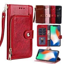 Flip Wallet Case Luxe Pu Lederen Cover Met Kaartsleuven Voor Iphone 12 11 Pro Xs Max Xr X 8 7 6 6S Plus 2020 Case Coque