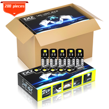 Dxz 200Pcs W5W Led T10 Led-lampen Canbus 168 194 2-SMD Witte Auto Interieur Dome Kaart Light Parking Lights fout Gratis Auto 12V 6000K