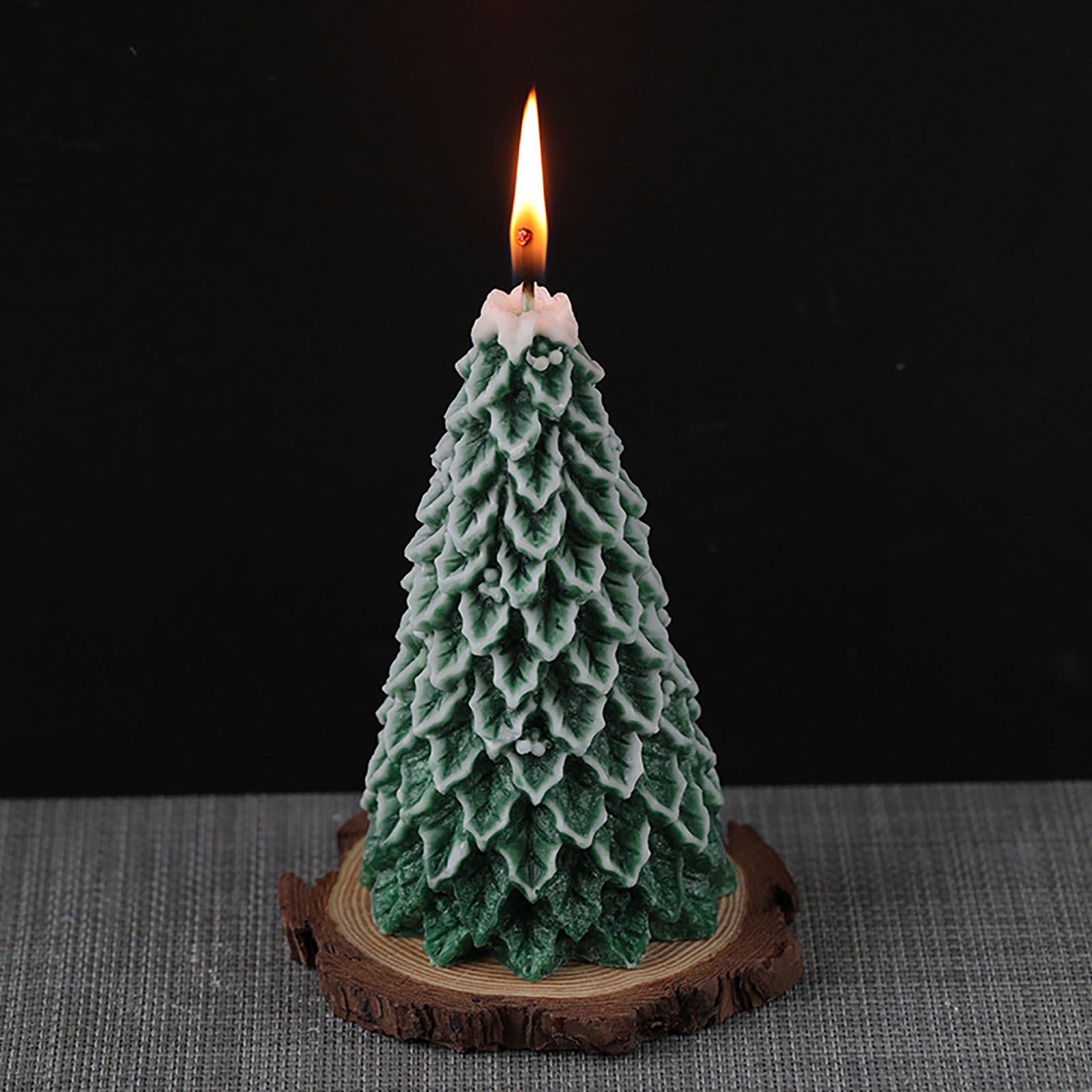 3D Candle Molds Pillar Silicone Soap Mold Christmas Tree DIY Handmade Wax Moulds