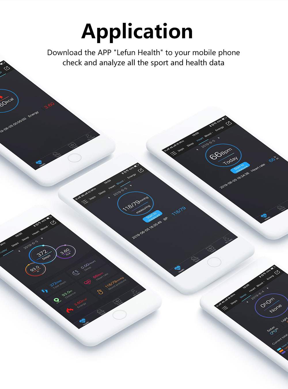 H57b9866afdb34f0a8b2e55ca3053ed28S 2020 Smart Wristband Fitness Bracelet Blood Pressure Measurement Smart Bracelet Heart Rate Waterproof Pedometer Smart Band Watch