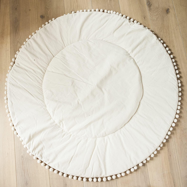 Teepee Mat, Teepee Carpet, Nursery Rug, Teepee Play Mat, Kids Rug, Children Rug, Baby Room Rug 100% Cotton